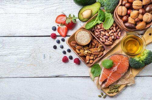 שומן בריא, חלבון פירות וויטמנים